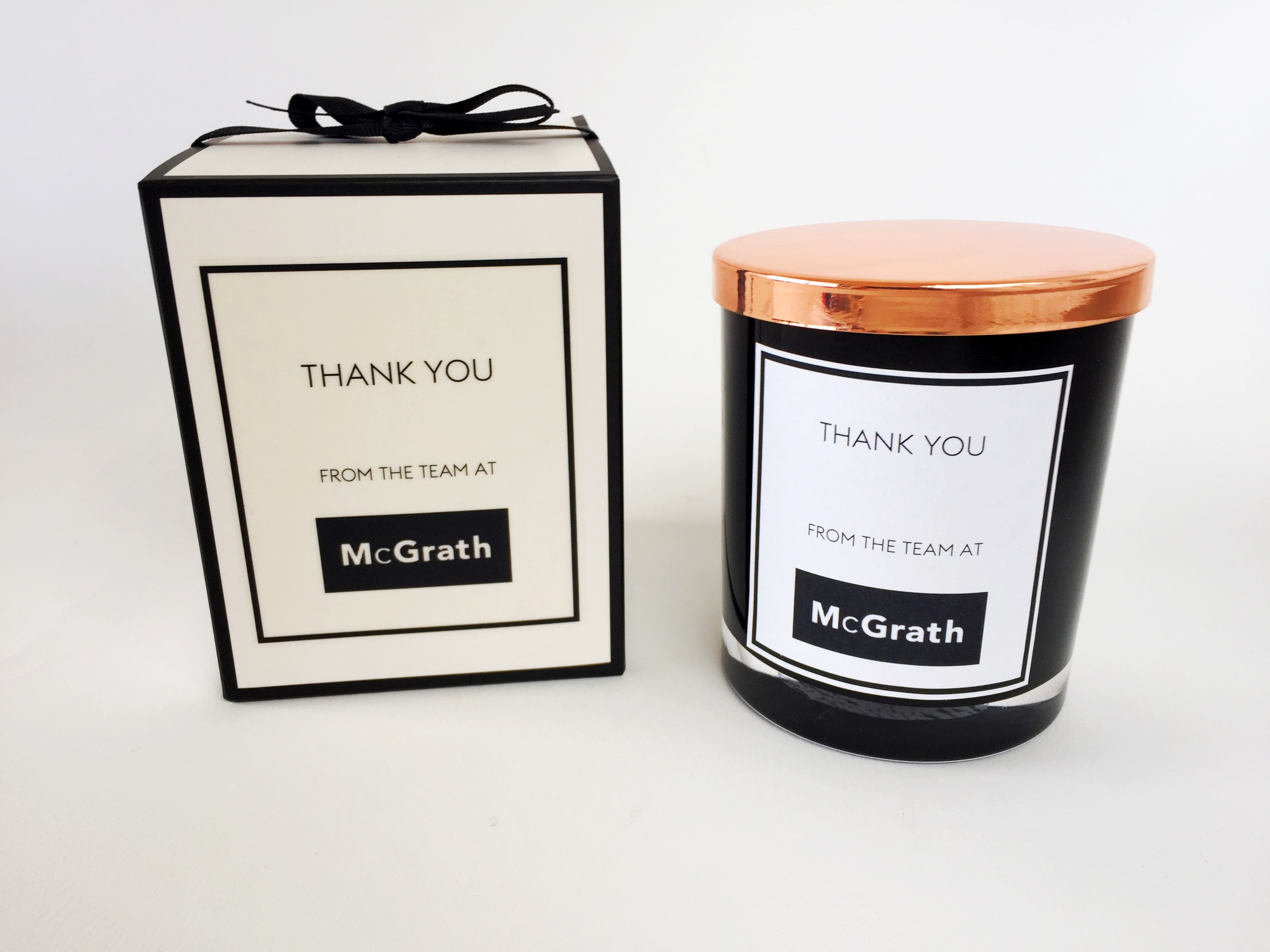 Branded luxury scented candles with your logo