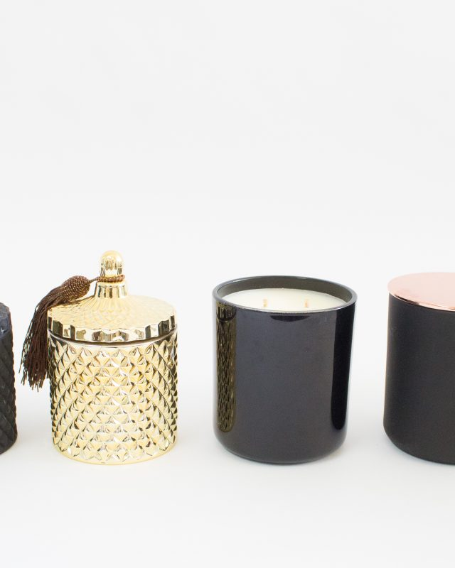 Some of the various candle styles that are available.