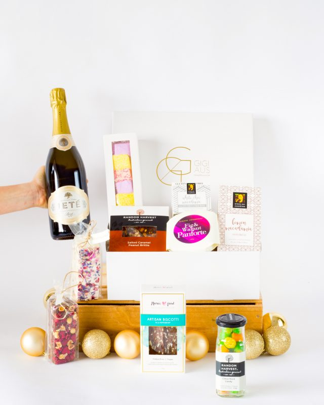 ULTIMATE OFFICE SHARE HAMPER WITH JETTE CHAMPAGNE - why not spoil them even more by adding a bottle of wine or champagne to their hamper? Enquire now for pricing