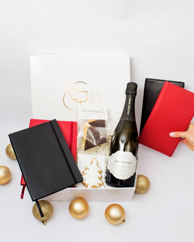 corporate chic hamper with travel wallets
